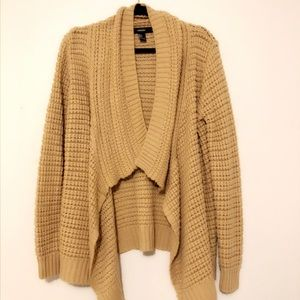 Tan Waffle Knit Sweater